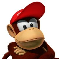 Diddy Kong itching for a fight in Super Smash Bros.