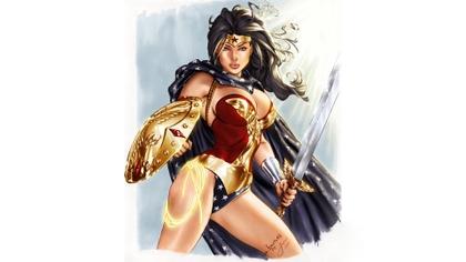 women dc comics comics superheroes illustrations amazon heroine wonder woman penichet sword and shie_www.artwallpaperhi.com_56