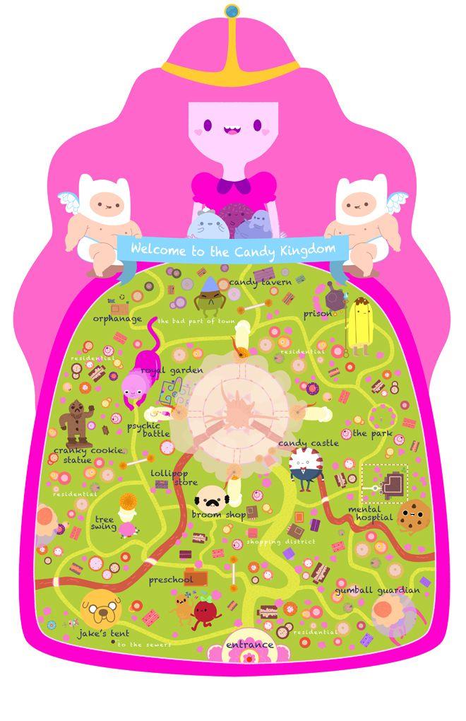 Candy Kingdom Map - Laura Langston