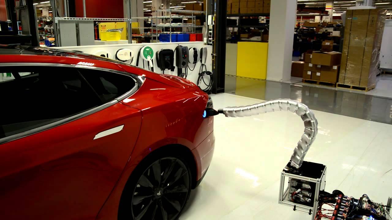 Tesla Motors Announces Automatic Car Charger