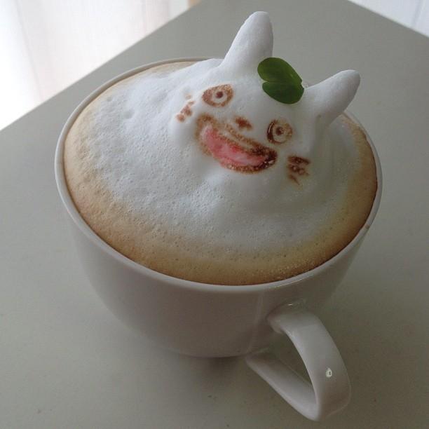 Totoro Latte Foam Art
