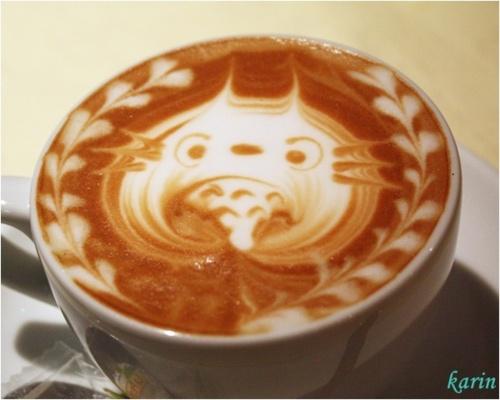 Totoro Coffee Art