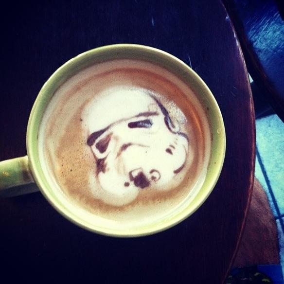 Stormtrooper Coffee Art