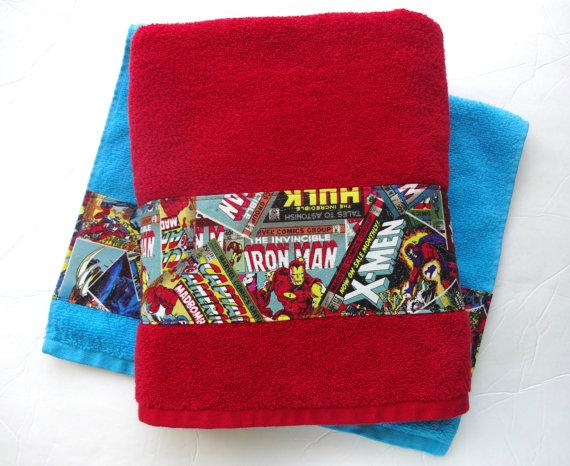 Bath Towels - Comics - Etsy