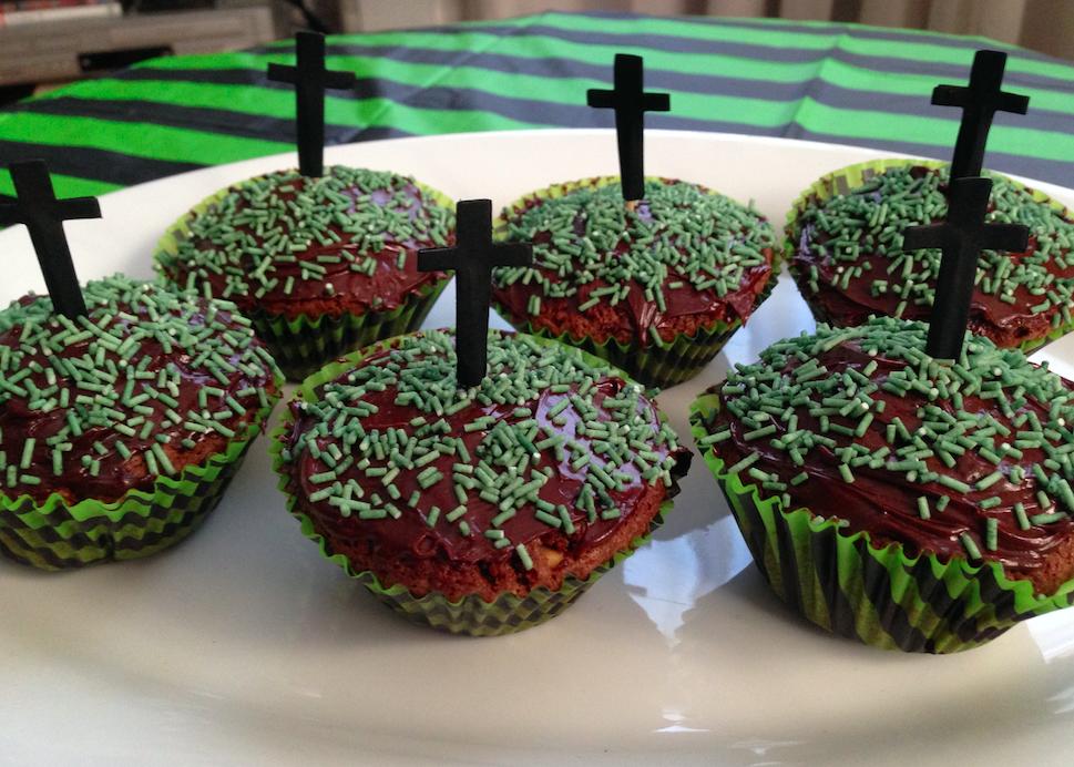 Recipe: Chocolate Graveyard Cupcakes