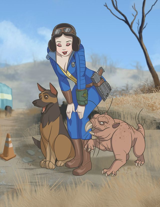 these-disney-princesses-get-post-apocalyptic-in-this-stunning-fallout-inspired-fan-art-699273