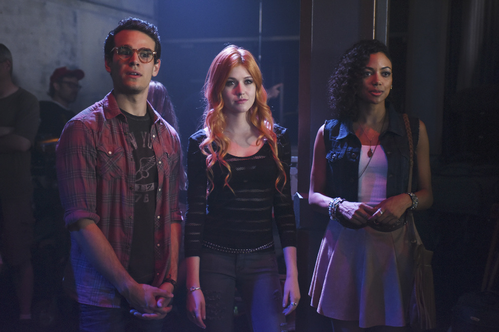 "SHADOWHUNTERS - ""The Mortal Cup"" - One young woman realizes how dark the city can really be when she learns the truth about her past in the series premiere of ""Shadowhunters"" on Tuesday, January 12th at 9:00 - 10:00 PM ET/PT. ABC Family is becoming Freeform in January 2016. Based on the bestselling young adult fantasy book series The Mortal Instruments by Cassandra Clare, ""Shadowhunters"" follows Clary Fray, who finds out on her birthday that she is not who she thinks she is but rather comes from a long line of Shadowhunters - human-angel hybrids who hunt down demons. Now thrown into the world of demon hunting after her mother is kidnapped, Clary must rely on the mysterious Jace and his fellow Shadowhunters Isabelle and Alec to navigate this new dark world. With her best friend Simon in tow, Clary must now live among faeries, warlocks, vampires and werewolves to find answers that could help her find her mother. Nothing is as it seems, including her close family friend Luke who knows more than he is letting on, as well as the enigmatic warlock Magnus Bane who could hold the key to unlocking Clary's past. (ABC Family/John Medland) ALBERTO ROSENDE, KATHERINE MCNAMARA, SHAILENE GARNETT"