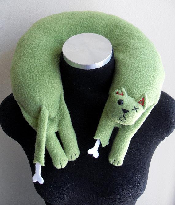 Zombie Cat Neck Pillow - ComfortbyFeliciaRose