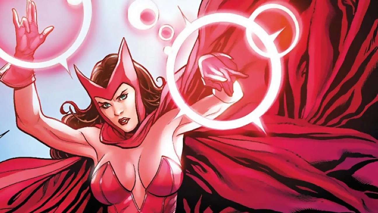 Scarlet Witch Trademark Style Civil War Concept Art