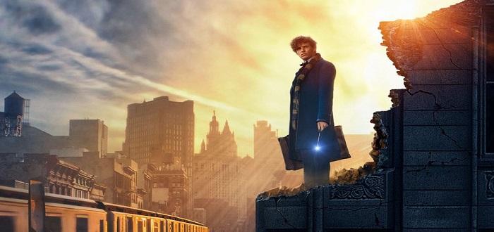 Newt Scamander looks at NYC horizon