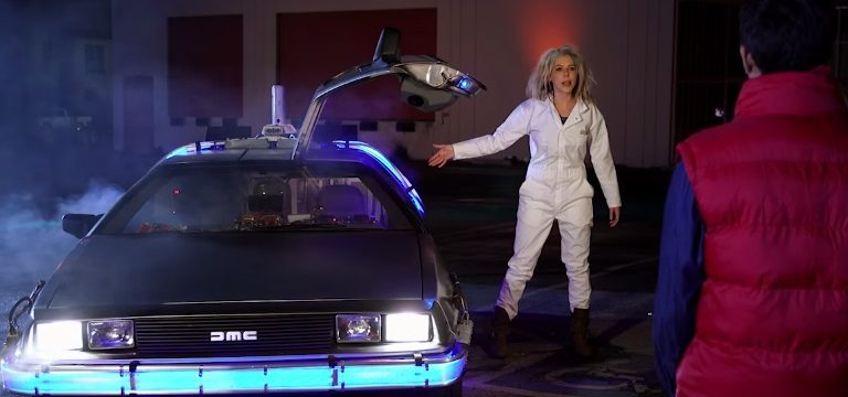 DeLorean Hot Tub Time Machine