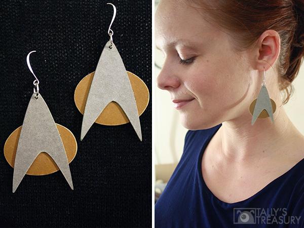 Comm Badge Earrings