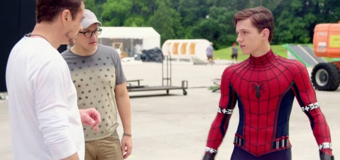 Tom Holland Behind the scenes of Civil War
