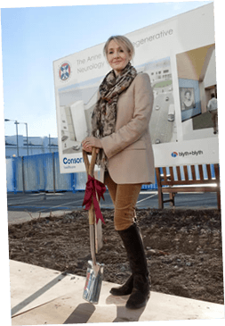 J.K. Rowling breaks ground on the Anne Rowling clinic