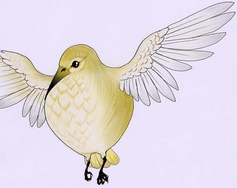 a rendering of a golden snidget