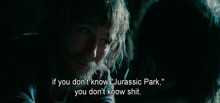 2Jurassic Park in Swiss Army Man