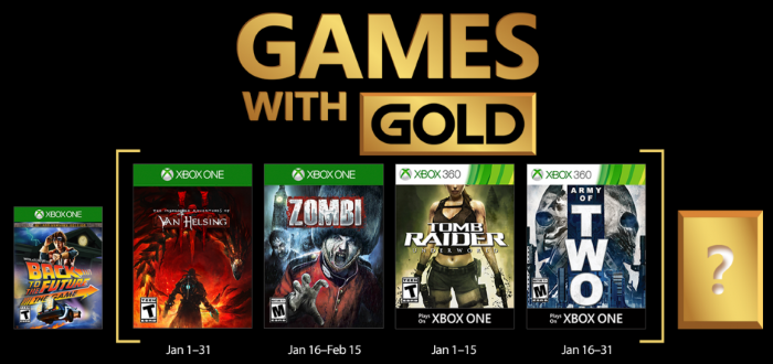 Games with Gold for January