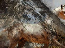 battlefield horse painting