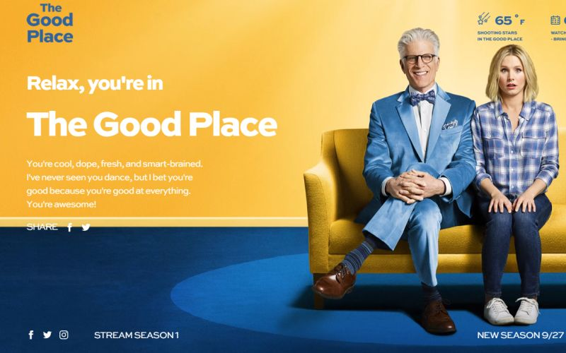 The Good Place Gets Forking Great Chrome Theme