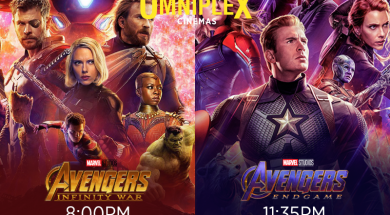 Avengers 8pm and Midnight