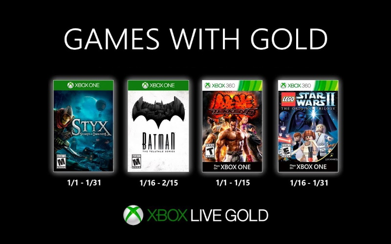 January Games With Gold Titles Now Available