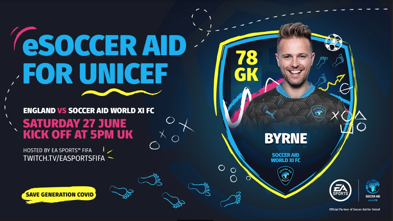 eSoccer Aid FIFA 20 Tournament For UNICEF Kicks-Off This Weekend