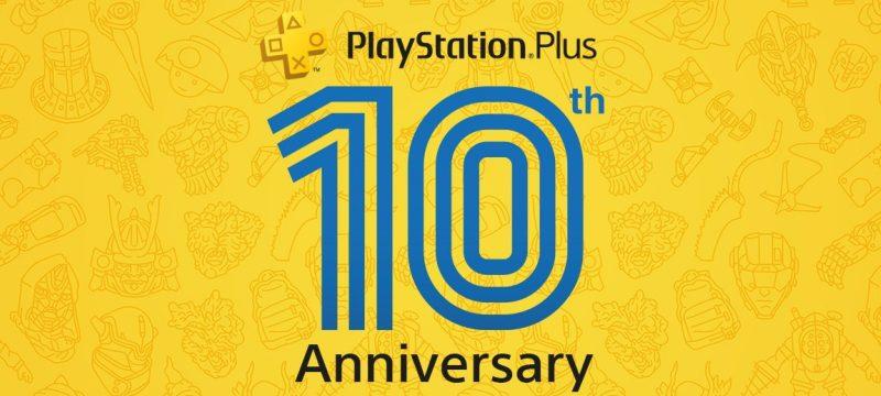 PS Plus 10th Anniversary header