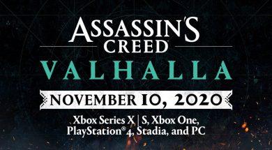 Assassin's Credd Valhalla November 10th Header