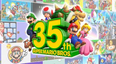Super Mario Bros 35th Anniversary Header