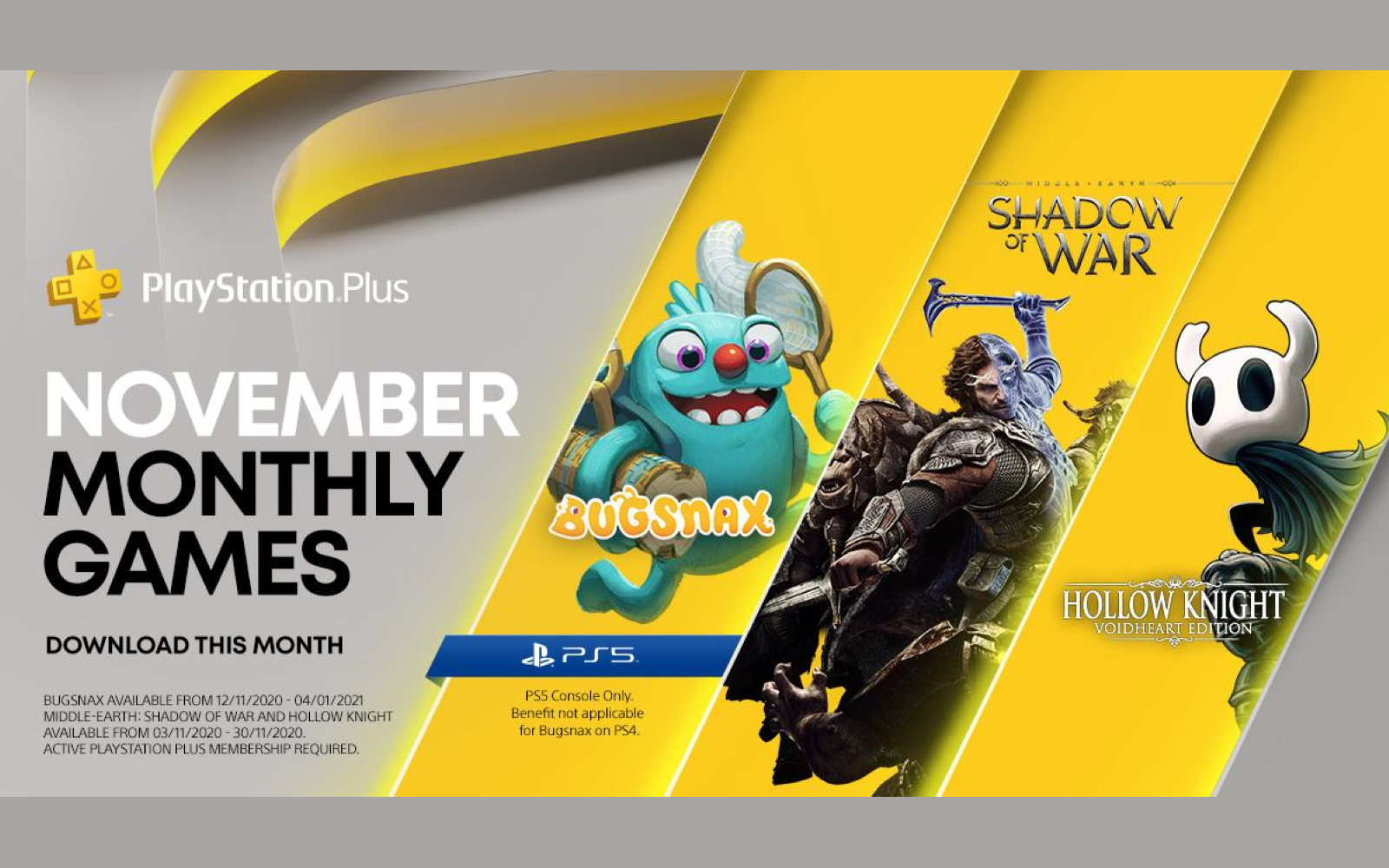 November's PlayStation Plus Line-Up Announced. Includes Bugsnax For PS5