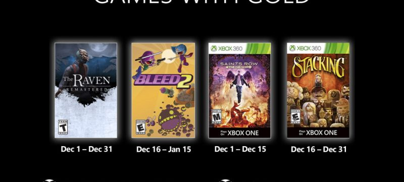 Games With Gold December 2020 Header