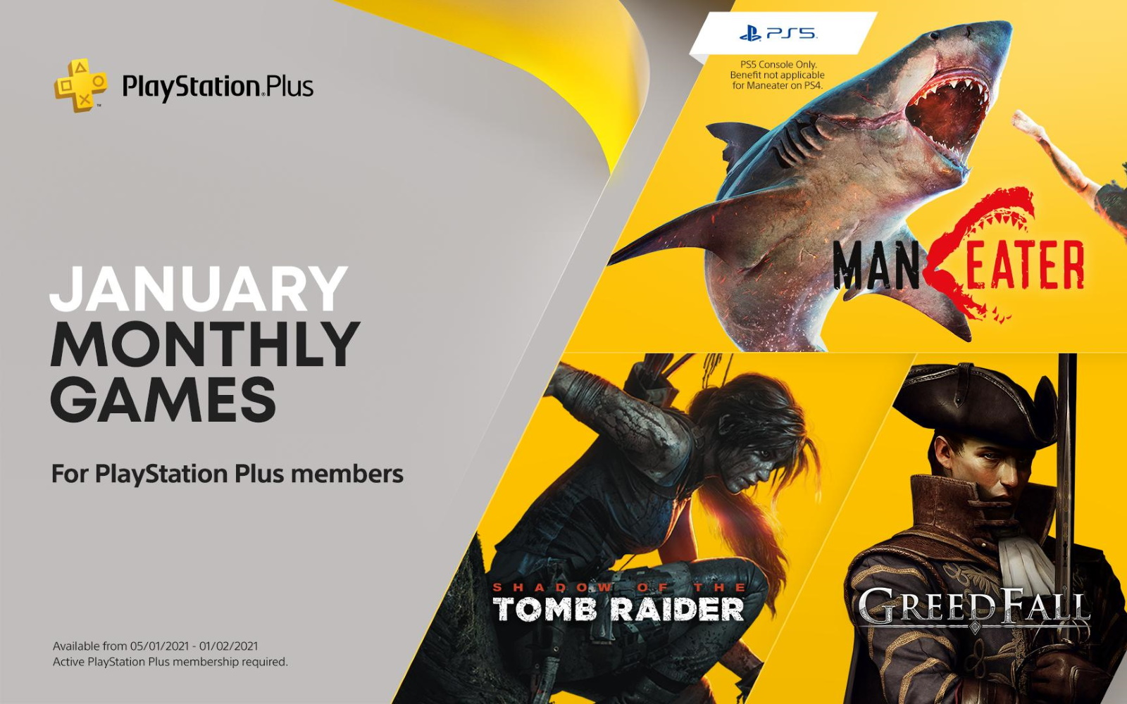 PlayStation Plus Titles For January Announced