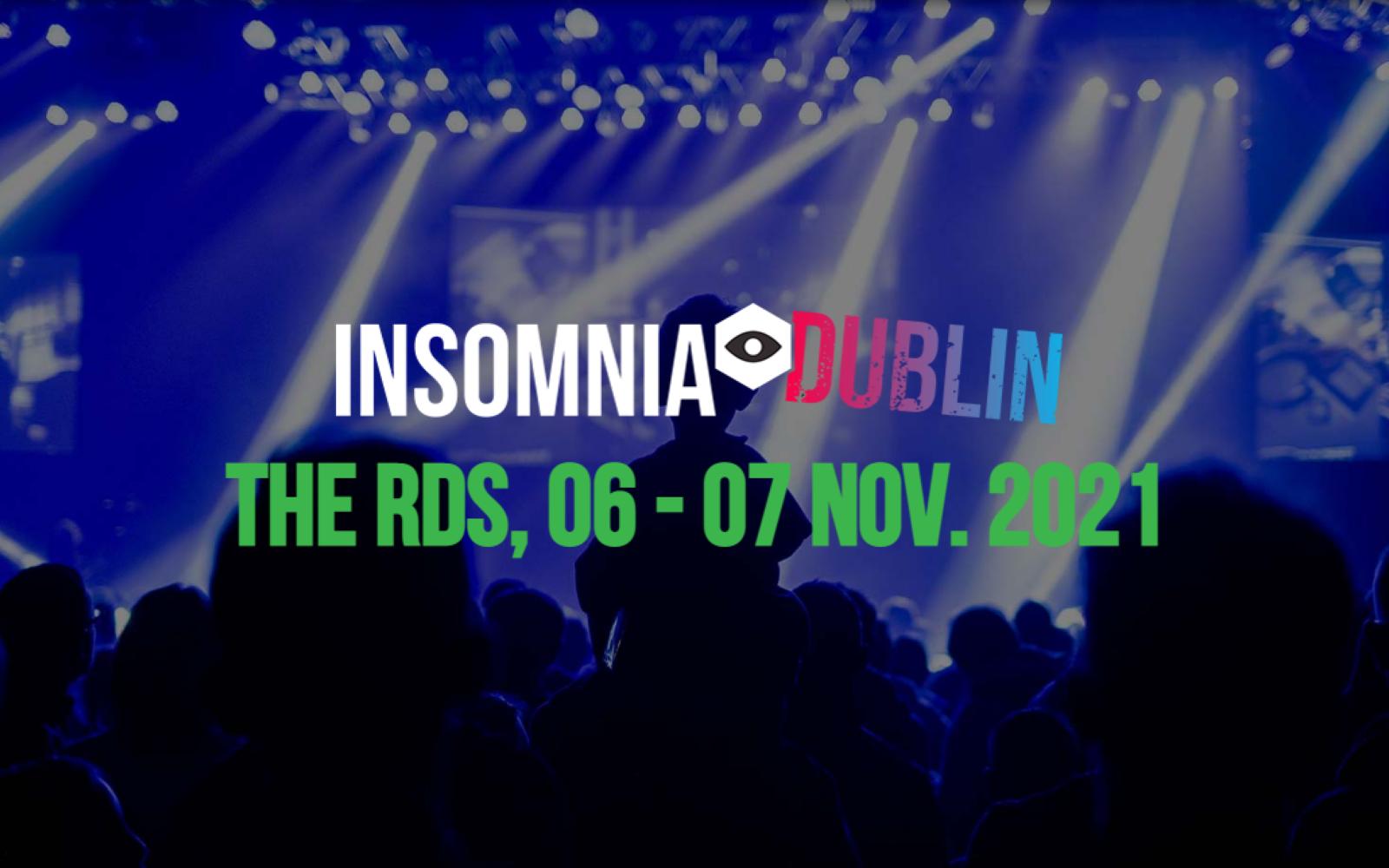 Insomnia Gaming Festival Dublin 2021 Set To Take Place In November